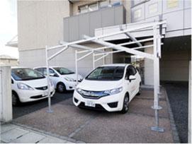 太陽光発電-農地用|下部が駐車場の場合-イメージ写真1|高知|太陽光|オール電化|有限会社 サンクオリティ