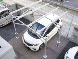 太陽光発電-農地用|下部が駐車場の場合-イメージ写真2|高知|太陽光|オール電化|有限会社 サンクオリティ